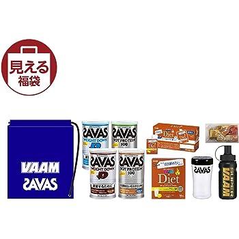 【2019年新春福袋】 明治 ザバス/VAAM(ザバス:ウエイトダウン2種、ソイプロテイン2種、シェイカー、VAAM:ダイエットパウダー、ゼリー)