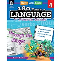 180 Days of Language for Fourth Grade (Practice, Assess, Diagnose: Level 4)