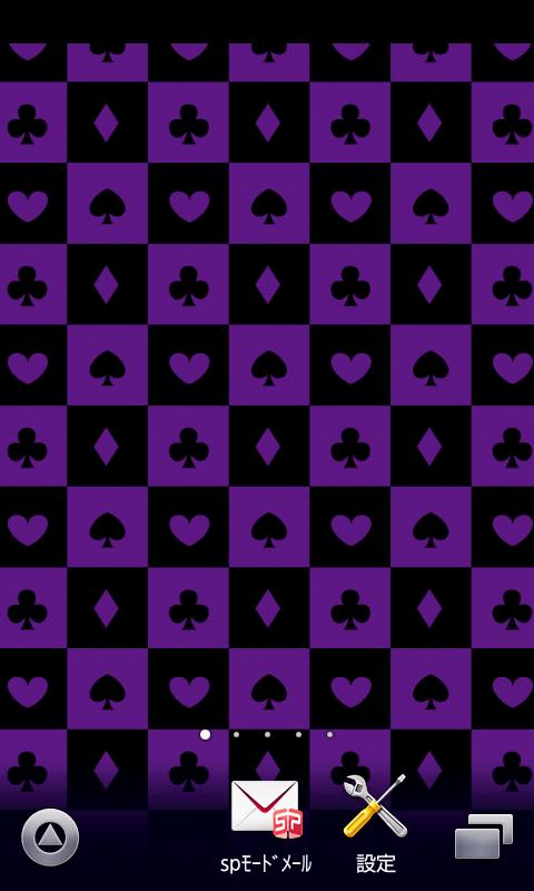 Amazoncojp トランプスマホ待ち受け壁紙ver7 紫黒