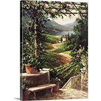 "Art Fronckowiakプレミアムシックラップキャンバス壁アート印刷題名Chianti Vineyard 18"" x 24"" 2121460_24_18x24_none"