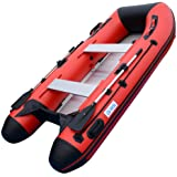 BRIS 3.1M Inflatable Boat Dinghy Yacht Tender Pontoon Boat with Aluminum Floor