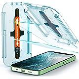 SPIGEN EZ Fit Glas.tR Slim Screen Protector Designed for Apple iPhone 12 Mini (2020) [5.4-inch] 9H Tempered Glass [2-Pack] -