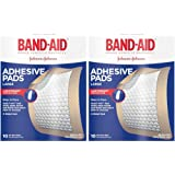 Band-Aid Brand Adhesive Bandages, Large Adhesive Pads, 10-Count Bandages (Pack of 2)