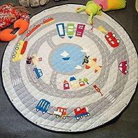 Greensun ( TM )ベビーおもちゃキッズラグPlayingマットベビークロールマットfor Children Racingゲームカーペット幼児おもちゃのストレージバッグ直径140 cm