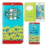 iPhone6s iPhone6 ケース 手帳型 ディズニー 窓付き キャラクター カバー カード収納 / エイリアン