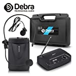 Debra Audio V-100 Portable VHF Wireless Microphone System with Lavalier & Headset Mic & carry box