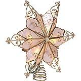 Kurt Adler 10-Light 6-Point Capiz Star Treetop