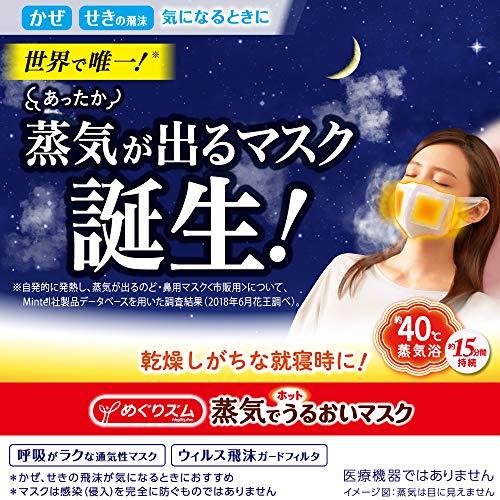 『【まとめ買い】めぐりズム 蒸気でホットうるおいマスク ラベンダーミントの香り ふつうサイズ 3枚入×2』の1枚目の画像