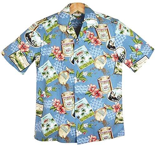 アロハシャツ メンズ ハワイ製 コーヒー豆柄