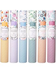 Sweet Home Scents プレミアムスパ お香 180本 6本の木製ホルダー付き ギフト包装用チューブ入り 6本セット 6種類の香り
