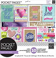 me & my BIG ideas Pocket Pages Scrapbook Page Kit, Love My Friends, 12-Inch by 12-Inch by Me & My Big Ideas
