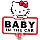 セイワ(SEIWA) ハローキティ 車用メッセージスイングサインKT282 BABY IN THE CAR 吸盤吸着タイプ HELLO KITTY