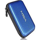 V5X 2.5インチHDD収納バッグ ポータブル収納ポーチ 外付けハードディスク保護収納ケース 撥水 防震 防塵 防衝撃 (ブルー1)