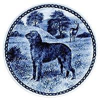 デンマーク製 ドッグ・プレート (犬の絵皿) 直輸入! Scottish Deerhound / スコティッシュ・ディアーハウンド