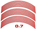 AUTOMAX izumi リム(17~19)赤0.7cm▼直線レッド反射 幅0.7cmリムステッカー17~19インチ対応 リムライン