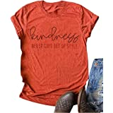 Woffccrd Womens Kind People are My Kinda People Graphic Tees Funny Letter Printed T Shirts Summer Short Sleeve Tops