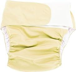 おむつ 大人用 失禁パンツ 介護 おむつカバー 漏れ防止 速乾性 しっかり吸水 通気性 洗える 再使用可能 大人用 医療 福祉 失禁(イエロー)