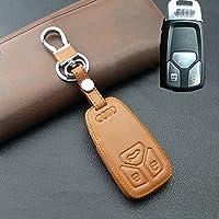 GOOACC Audiアウディ適応ケース 自動車カーキーケース キーカバー 鍵保護 汚れ・傷防止 Audi new A4L/Q7/TT/TTSなど (ブラウン)