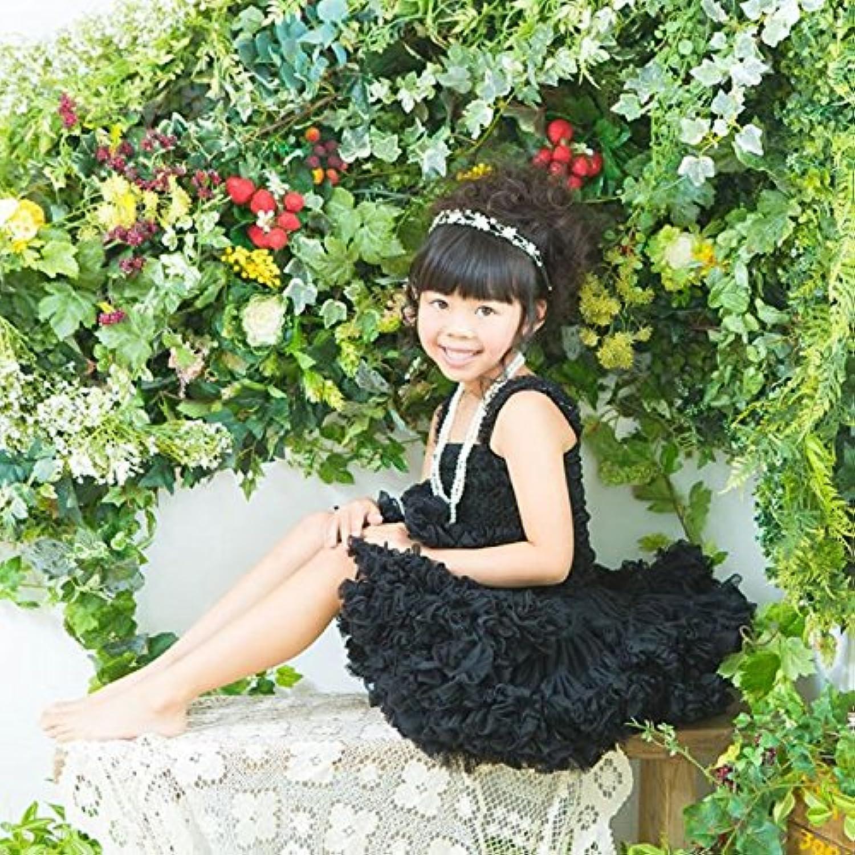 ふわふわプリンセスチュチュスカート☆選べる16カラー 0才~5才まで長く着れるふわふわボリュームの愛されアイテム<在庫あり◎> (ブラック)