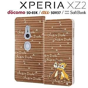 レイ・アウト Xperia XZ2(SO-03K/SOV37/SoftBank)用 『ディズニーキャラクター』/手帳型ケース(チップ&デール) RT-RDXZ2T/CD