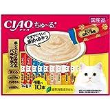 チャオ (CIAO) 猫用おやつ ちゅ~る まぐろ・とりささみバラエティ 14g×40本入