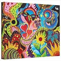 アート壁Marina Petroハートと花ギャラリーWrappedキャンバスアート L 0pet051a2432w
