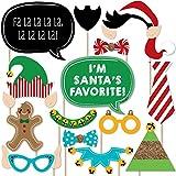 クリスマスElfie自撮り – Holiday &クリスマス写真ブース小道具キット – 20カウント