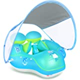 LAYCOL Baby Swimming Pool Float with Removable UPF 50+ UV Sun Protection Canopy,Toddler Inflatable Pool Float for Age of 3-36