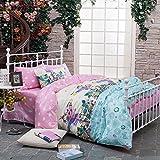 TheFitペイズリーテキスタイル寝具for Adult u403リーフフィールドImagin布団カバーセット100%コットン、クイーンセット、4ピース
