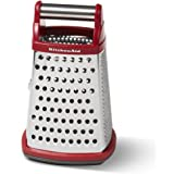 KitchenAid Gourmet Stainless Steel Box Grater, Red