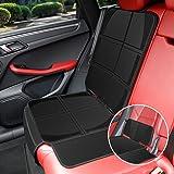 KYG チャイルドシート 保護マット 車シートカバー 2in1 取り外し可能 長短二つパッション ISOFIX対応 座席保護 プロテクター 防水 傷 汚れ防止 滑り止め ブラック
