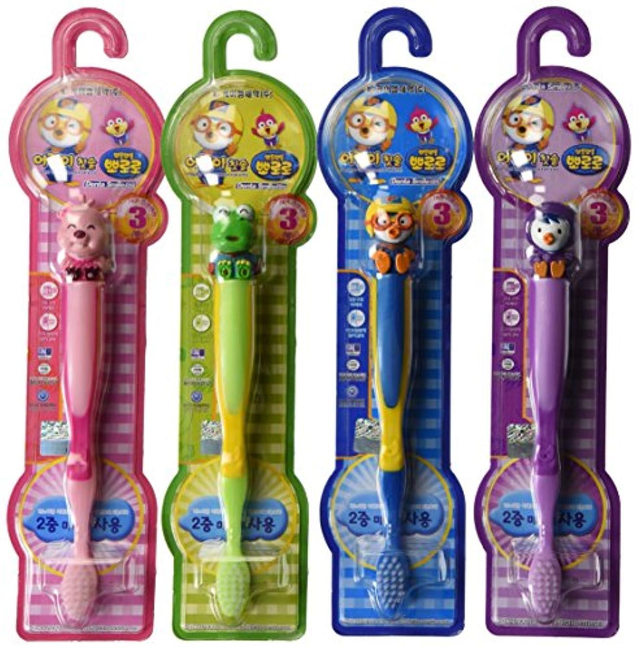 細菌ステートメント摂動Pororo Kids Children Toothbrush Toothpaste (4units) by TheJD [並行輸入品]