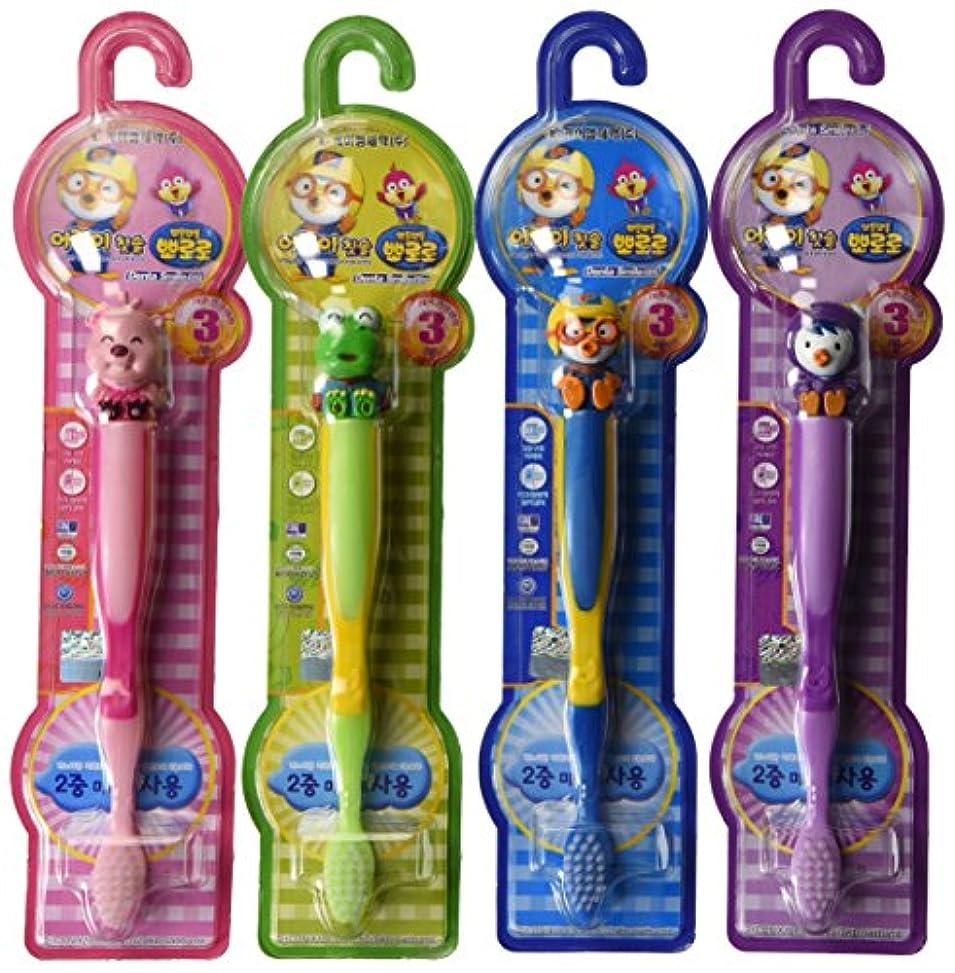 購入地域のりんごPororo Kids Children Toothbrush Toothpaste (4units) by TheJD [並行輸入品]