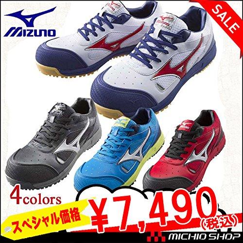 ミズノ 安全靴 プロテクティブスニーカーC1GA1600 オールマイティ 紐タイプ Color:9ブラック×シルバー 30.0