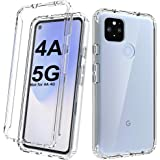 Dahkoiz Case for Google Pixel 4A 5G Case(NOT for Google Pixel 4A 4G Version),See-Through Clear Crystal TPU Bumper Cover Slim