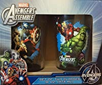 Marvel Avengers Assemble Set of 2 Glasses 16oz
