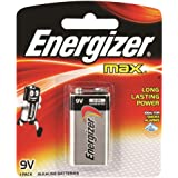 Energizer 522BP1T Max Battery, 9V