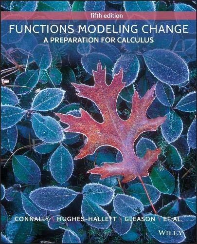 Download Functions Modeling Change: A Preparation for Calculus 1118583191