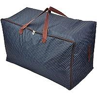 大容量 ボストンバッグ 100L 超大型バッグ 引っ越しバッグ 荷物 運搬 衣類?布団収納袋 布団収納ケース 600Dオックスフォード 丈夫 撥水バッグ 持ち手付 スボーツ アウトドア キャンプ 旅行 特大収納袋 強いハンドルで (XL:70*42*35CM)