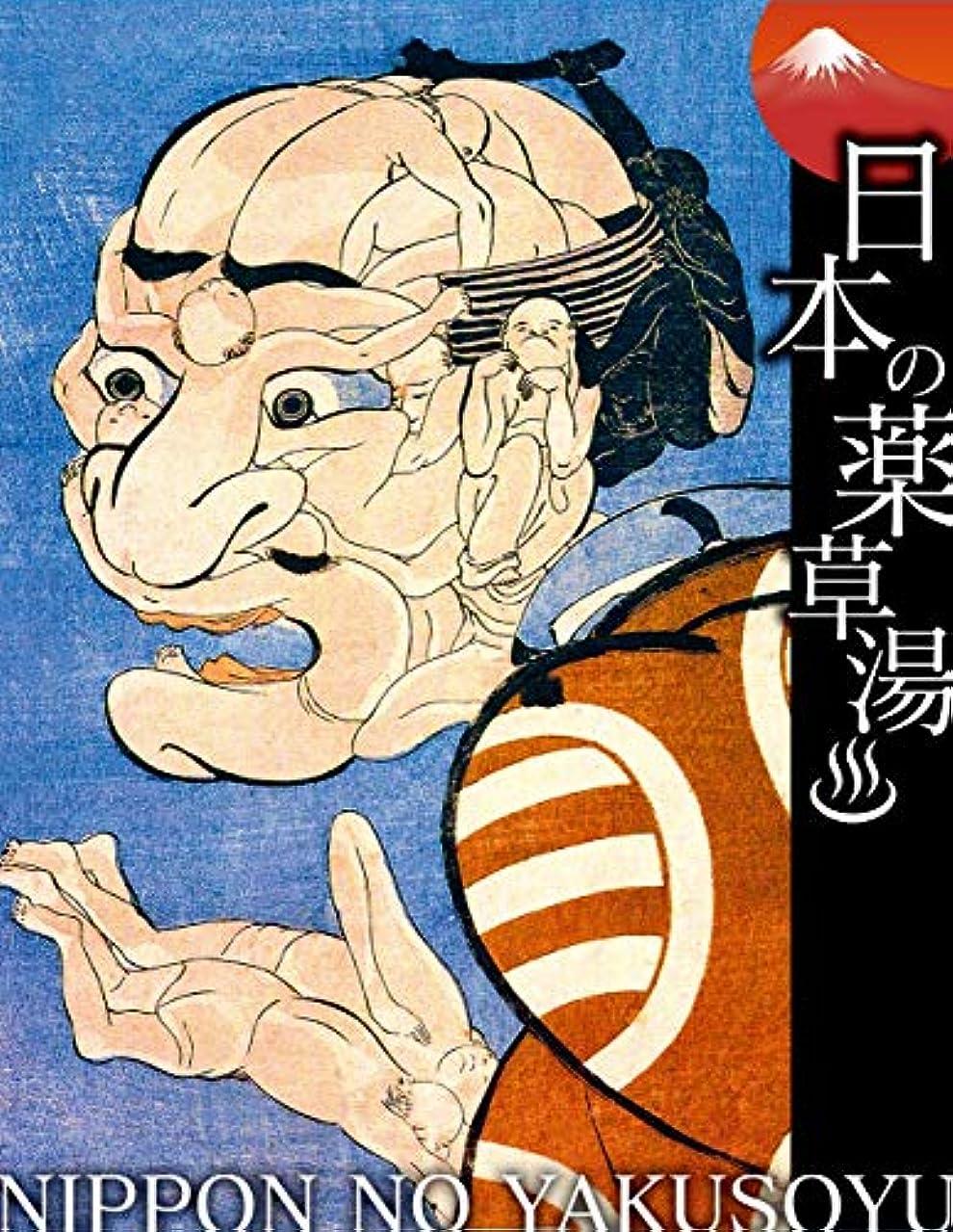 無傷スノーケル詳細な日本の薬草湯 みかけハこハゐがとんだいゝ人だ