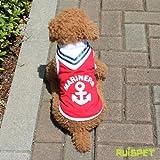 2WAYマリンタンクトップ/レッド Lサイズ 【ルイスペット】  犬服 ドッグウェア