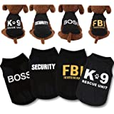 Yikeyo Male Dog Shirts - Small Dog Clothes for Boys - xs Puppy Clothes - Black Dog Shirt Pack of 4 - Dog Tshirts Outfits for