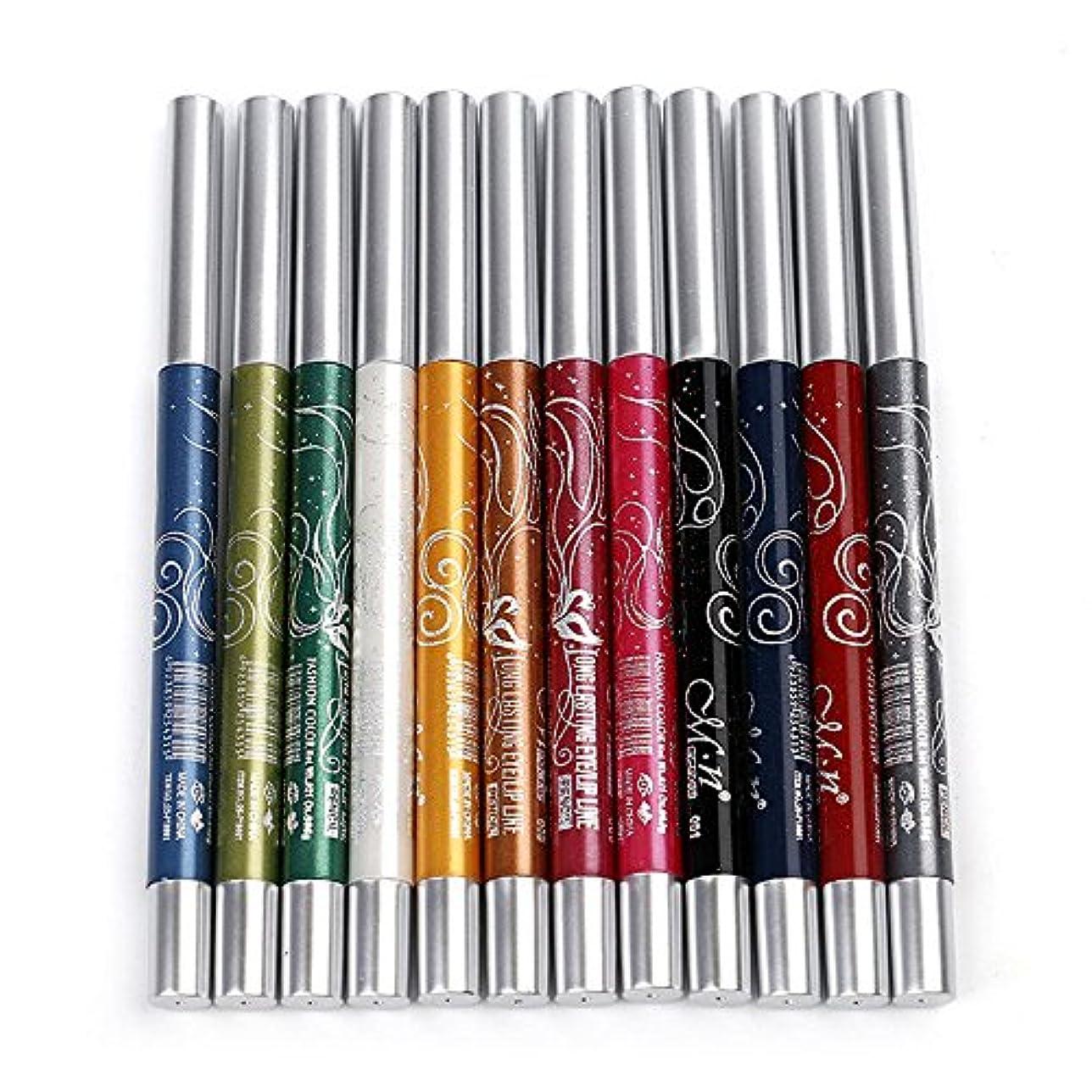 粘性の儀式やけどMenow 12色長持ちするアイシャドーアイライナーリップライナーペンメイクアップビューティー