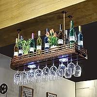 ワイングラスラック、ワイングラスラック、シャンパングラスラック、ガラス器具ラック、ネオンワインラック(ネオンライト) (サイズ さいず : 80cm)