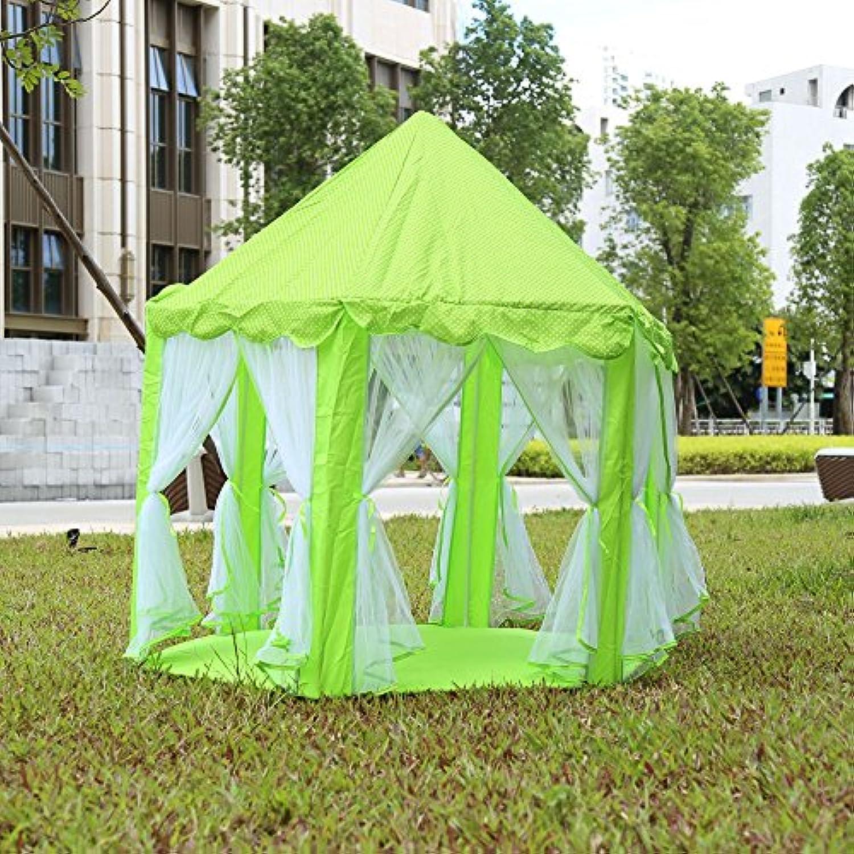 ポータブルPrincess Castle Play TentアクティビティFairy家インドアアウトドアToy Kids Cubby再生Hutセラドン