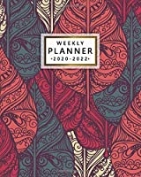 2020-2022 Weekly Planner: Pretty Vintage Tribal Leaves 3 Year Organizer and Planner with Weekly Spread Views - Three Year Schedule Agenda with To-Do's, Notes, Motivational Quotes and Vision Boards