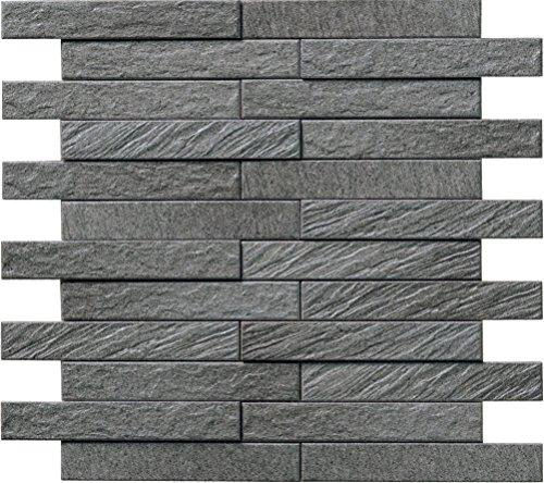 エコカラット グラナス ルドラ■25×151角ネット張り LIXIL (ダークグレー)