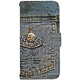 TeamS(チームエス) iPhone8 Plus [LL] ケース 手帳型 スマホケース nbdn001a デニム メンズ かっこいい ヴィンテージ ミラータイプ