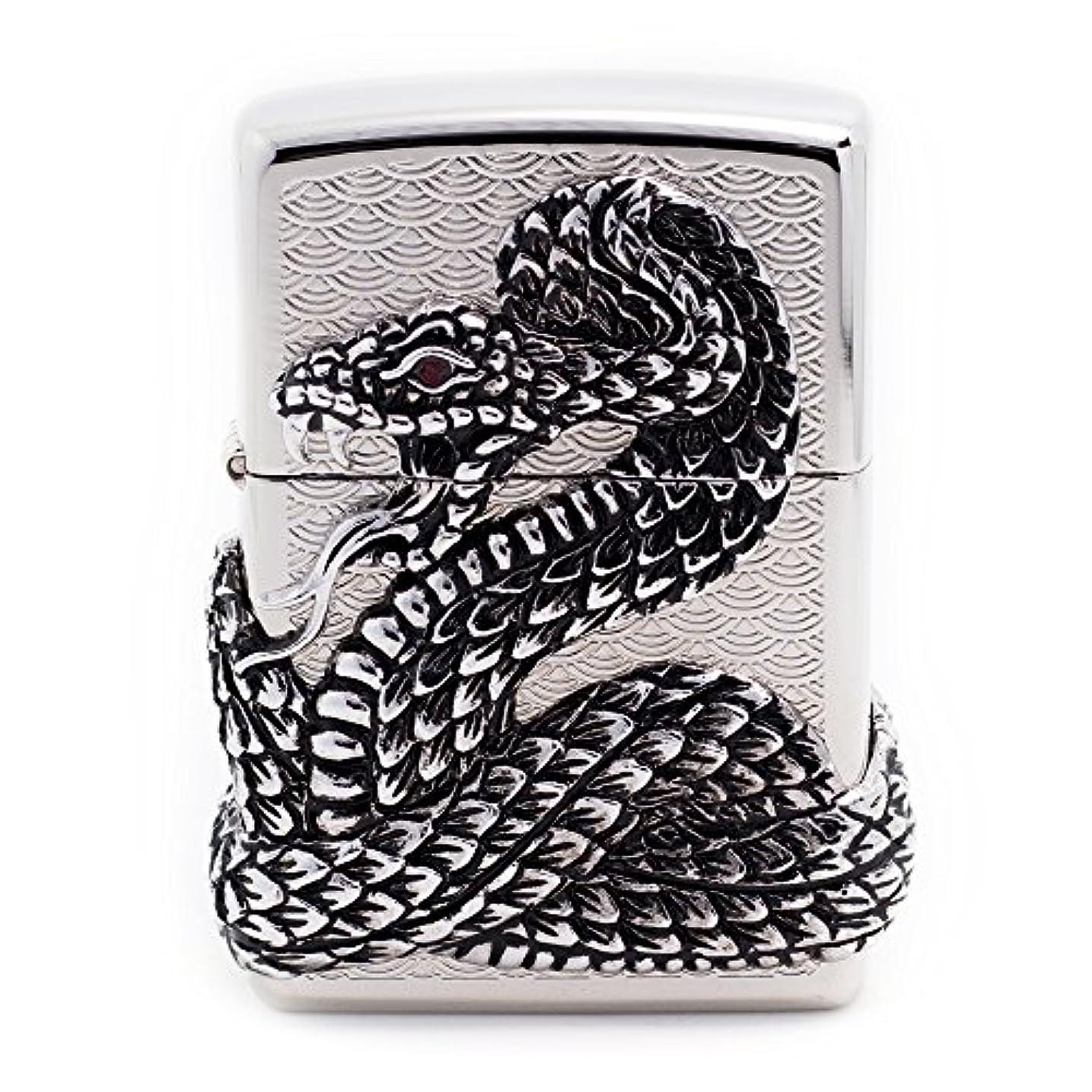 痛み鰐奇跡Zippo Snake Coil Sl Lighter ライター / 正真正銘の本物 / オリジナルパッキング(6フリントセット フリーギフト) [並行輸入品]