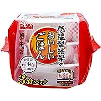 [Amazon限定ブランド]SmartBasic ごはん パック 国産米 100% 低温製法米のおいしいごはん 角型 非常食 米 レトルト 150g×24個